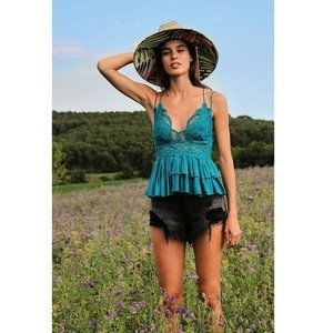 Free People Intimately Adella Cami Blouse Top M